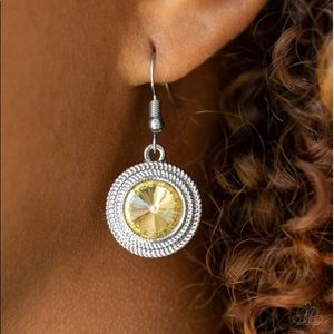 Yellow Prism Earrings NWT
